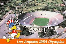 C6777 Los Angeles 1984 Olympics Rose Bowl Soccer Mascot Sam Continental Postcard