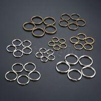 100pcs Nickel Plated Metal Double Loop Split Key Rings Chains Findings DIY Craft
