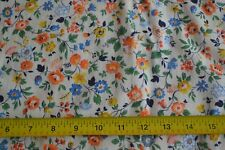 """By 1/2 Yd, 34"""", Vintage 1940's-60's, Calico on Lt-Yellow Cotton, Puritan, N1438"""