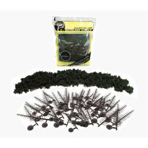 Realistic Pine Tree Kit makes (24) 2.5 - 6  #TR1113 Woodlands