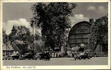 Bad Dürkheim Rheinland-Pfalz ~1950/60 Faß Weinfaß Wein Wahrzeichen alte Autos