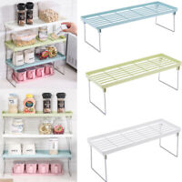 1 Tier Kitchen Cupboard Organiser Shelf Storage Support Pantry Stand Jar Rack