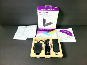 NETGEAR - AC1200 Dual-Band WIFI USB 3.0 Adapter - Black A6210 with Stand & Cable