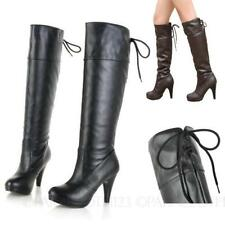 High (3 in. and Up) Pull On Synthetic Formal Boots for Women