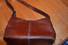 Fossil Brown Leather Shoulder Handbag Purse