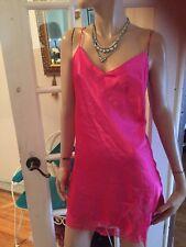 La Senza Nightie Slip Lingerie Sleepwear Pink Lace Trim Size M