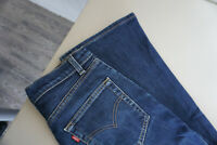 Levis Levi`s Strauss Damen Jeans Hose 26 /30 W26 L30 stonewsahed Blau TOP ap3