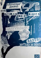 Ultimate Noise Night - 1989-tourplakat-Happy Flowers-Bastro-Tourposter