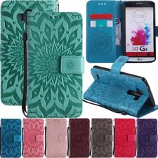 Sun Flower Flip Leather Wallet Card Holder Phone Case Cover For LG G3 G4 G5 G6