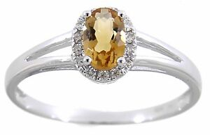 Birthstone Solid 14K Gold 0.5 CT Natural Gemstone Halo Diamond Fine Ring Jewelry