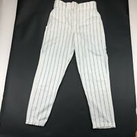 Vintage Russell Athletic Mens White Navy Blue Striped Baseball Pants 34 USA Made