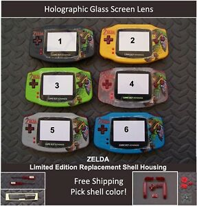 ZELDA LE Gameboy Advance GBA Replacement Housing Shell Glass Screen -Pick Color