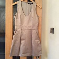 gold dress French connection size 8 brand new