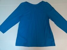 White Stag Women's 3/4 Sleeve Career Top Waffle Neck White, Blue, Blush Size S L
