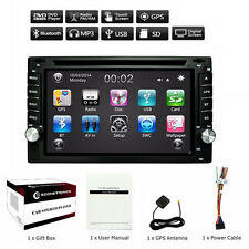 "6"" 2 Din In-dash In-car GPS Navigation Bluetooth Car Stereo FM Radio MP3 Player"