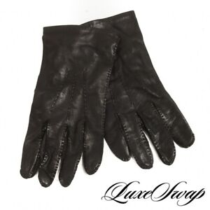 #1 MENSWEAR Polo Ralph Lauren Made England Black Nappa Leather Unlined Gloves 9