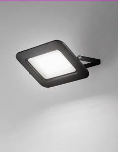 Faro Proiettore Ultra Sottile per Esterni Colore Nero Luce LED Perenz 6714 NLC