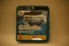 Gillette Mach3 Refill Cartridges 10 count Razor Blade Cartridges New