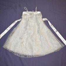 Perlen-Brosche am KINDER KLEID* 110 * Tüll Blumenmädchen Kommunion Festkleid