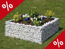 HOCHBEET 80 x 80 cm Höhe 40 cm Blumentopf Beet Gabione Gabionen Garten Bellissa
