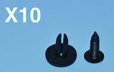 10 X RENAULT CLIO NERO RIVETTI IN PLASTICA GANCETTI ACCESSORIO BORDO PANNELLI