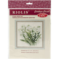 "RIOLIS Counted Cross Stitch Kit 7.75""X7.75""-Lilly Of The Valley (14 Count)"
