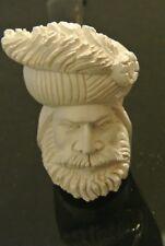 Saudi Arabia Meerschaum Bearded Feather Turban Sheick Man Medium Smoking Pipe