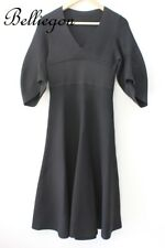 e6ee392c92af4 SCANLAN THEODORE V Neck Black CREPE Knit TOP DRESS Size SMALL