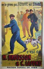 """""""ETOFFE M. BROUSSON & C. LAFOND"""" Affiche entoilée Litho AUZOLLE 1925 134x202cm"""