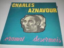 CHARLES AZNAVOUR - ORAMAI DESORMAIS - RARE ORIGINAL SIF LP 90002 Mono+Stereo -IT