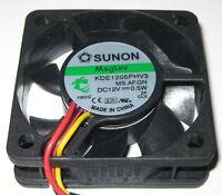 Sunon 50 mm Ultra Quiet Cooling Fan - 12 V - 10 CFM - 22 dB - KDE1205PHV3 - Tach