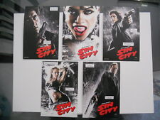 Sin City movie rare limited issued 5 cards 4x6 postcard set