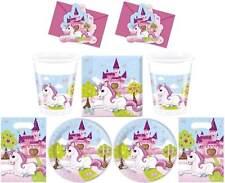 Licorne XL Set de Fête Serviettes Table Plaque Tasses Sacs Cartons Vaisselle