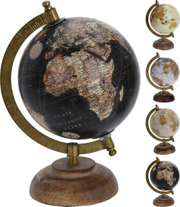 22cm Vintage Style Rotating Globe Swivel Map Earth Geography Atlas World Gift