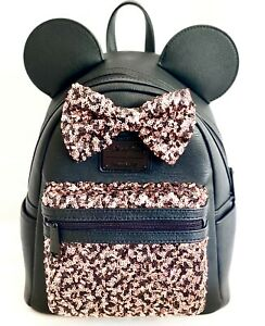 Loungefly Disney Parks Bronze Mini Backpack Bag Belle of the Ball Sequinned