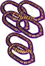 6 Lot Cryptic Mason Royal & Select Master Chain Collar Regalia Masonic Jewel