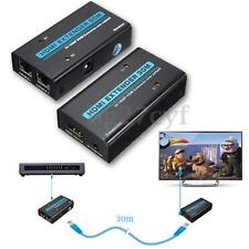 HDMI to RJ45 Extender Over Ethernet Cat5e/6 Video/Audio Transmitter IR Receiver