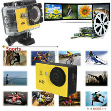"NEW 12MP HD 1080P Sports Waterproof Mini DV SJ4000 2.0"" as GoPro Yellow"