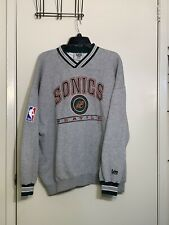 Seattle Sonics Gray Mens Sweater 2XL Lee Sport NBA Official