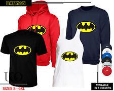 BATMAN Unisex Classic Super Hero Comic Gift T-Shirt Vest Sweatshirt Hooded Top