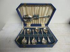 Vintage Fruit Or Desert Spoons - Made By Sipelia - 6 Spoons & Serving Spoon