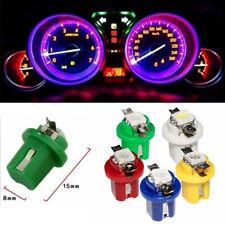 50 Pcs T5 5050 Car Dashboard Dash Side Parking Interior Color LED Lights Bulbs