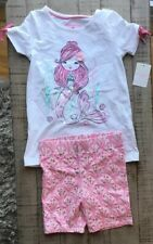 Nwt Tommy Bahama Girls Mermaid 2 Pice Set Top Shorts Sz 5-6 M Cotton Blend White