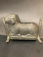 "Vintage Sheep Chocolate Mold 8""-6"" Lamb Lying Down Easter Metal Candy Making"