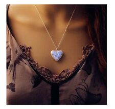 Valentine's Day Heart of Sea Steampunk Glow Locket Jewelry Gift for Her Necklace