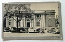 POSTCARD OLD CARS IN FRONT OF POST OFFICE SIDNEY OHIO #990j6
