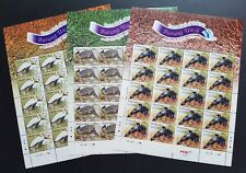 2009 Malaysia Unique Birds 60v Stamps complete set of 3 sheets Full Pane Mint NH