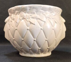 McCoy Pottery American Rare White Ceramic Large Bowl Or Planter From The 1930's