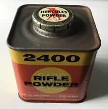 Vintage Hercules 2400 Smokeless Rifle Pistol Shotgun 1 Lb Powder Tin (Empty)