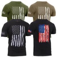Rothco Athletic Fit Distressed US Flag T-Shirt Mens Patriotic USA Flag T-Shirt
